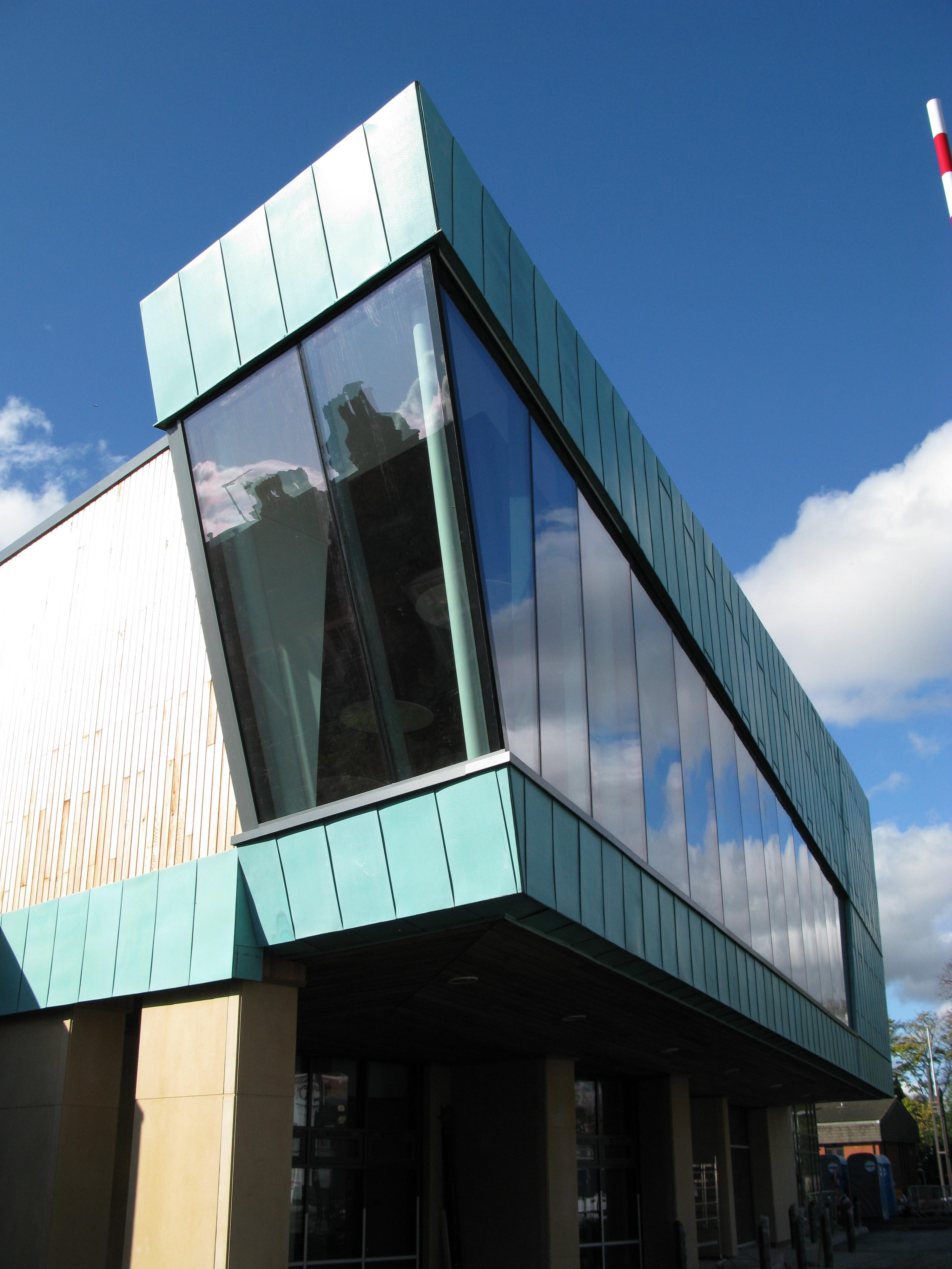 Aluminium Leisure Centre Facade